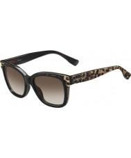Jimmy Choo Donna Bebi-s PUE J6 occhiali da sole neri di origine animale