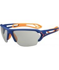Cebe S-track grande opaco blu arancio occhiali da sole variochrom Perfo
