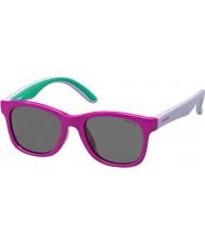 Polaroid Bambini pld8001-s T37 y2 fucsia occhiali da sole polarizzati lilla