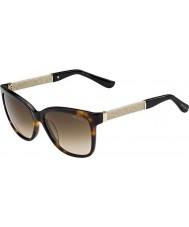 Jimmy Choo Donna Cora-S FA5 JD avana scintillio occhiali da sole