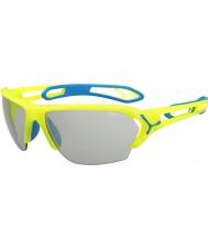 Cebe S-track grandi pro neon occhiali da sole Perfo giallo variochrom