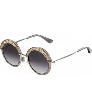 Jimmy Choo Donna Gotha-S 68 '9c 50 occhiali da sole di palladio nude