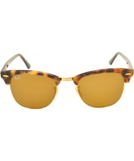 RayBan RB3016 Clubmaster 51 maculata marrone avana 1160 occhiali da sole