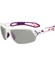Cebe S-track occhiali da sole bianchi medi variochrom viola Perfo