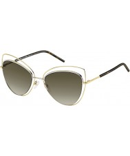Marc Jacobs Donne marc 8-s APQ ettari oro occhiali da sole scuri avana