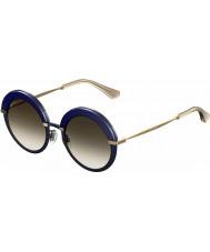 Jimmy Choo Donna Gotha-s 3ue js occhiali da sole oro blu