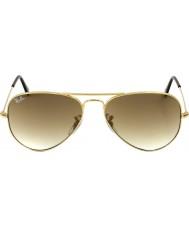 RayBan RB3025 58 aviatore di grandi dimensioni in metallo oro 001-51 gli occhiali da sole