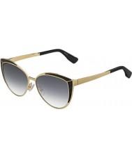 Jimmy Choo Signore Domi-s PSU 9c oro occhiali da sole neri