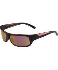Bolle Fierce nero lucido rosa polarizzato gli occhiali da sole rosa d'oro