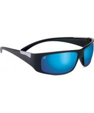 Serengeti Fasano nero lucido polarizzato PhD 555nm occhiali da sole blu a specchio