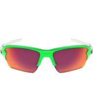 Oakley Oo9188-43 flak 2.0 xl dissolvenza verde - occhiali da sole sul campo PRIZM