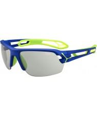 Cebe S-Track blu occhiali da sole Perfo variochrom verde medio scuro