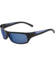 Bolle lucidi blu polarizzata occhiali da sole blu off-shore nero Fierce