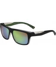 Bolle Clint opaca calce nero occhiali da sole polarizzati smeraldo marrone
