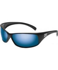 Bolle Recoil lucidi neri polarizzati occhiali da sole blu off-shore