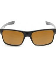 Oakley Oo9189-03 TwoFace nero lucido - occhiali da sole scuri di bronzo