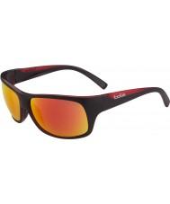 Bolle Viper opachi occhiali da sole nero rosso TNS fuoco