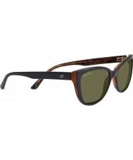 Serengeti Sophia nero lucido occhiali da sole polarizzati 555nm