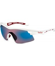 Bolle Vortex bianco lucido rosa occhiali da sole blu