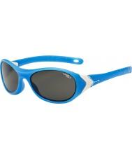 Cebe Cricket (età 3-5) bianco opaco 1500 occhiali da sole di luce blu grigio ciano