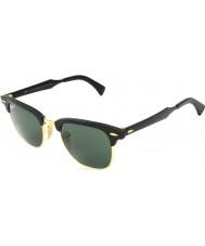 RayBan occhiali da sole polarizzati Rb3507 51 alluminio Clubmaster Arista nero 136-n5