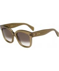 Celine Donne cl 41805-s qp4 Z3 occhiali da sole verdi militari
