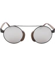 Swole Panda Morpheus marrone occhiali da sole polarizzati di bambù