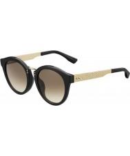 Jimmy Choo Signore Pepy-s qfe jd rosa nera occhiali da sole d'oro