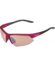 Bolle Breakaway lucido rosa modulatore grigio rosa occhiali da sole di pistola