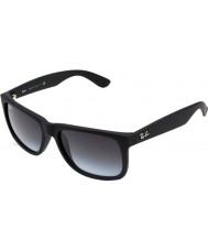 RayBan RB4165 55 justin gomma occhiali da sole 601-8g nero