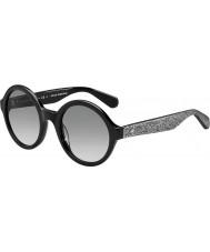 Kate Spade New York Donna Khrista-S S2J O0 argento occhiali da sole neri scintillanti