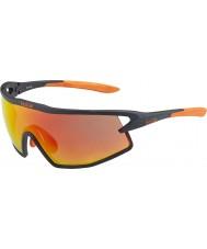 Bolle B-rock opaco occhiali da sole di fuoco nero e arancio TNS