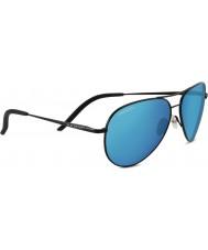 Serengeti Carrara nero lucido polarizzato 555nm blu occhiali da sole