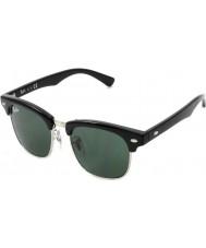 RayBan Junior Rj9050s 45 Clubmaster neri 100-71 gli occhiali da sole