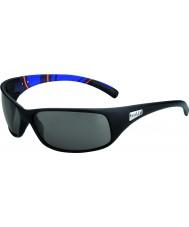Bolle Recoil opaco strisce blu modulatore occhiali da sole polarizzati grigi