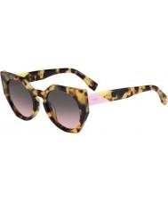 Fendi Sfaccettature FF 0151-s 00F en macchiato occhiali da sole avana