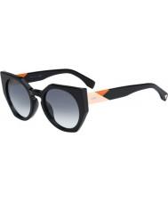 Fendi Sfaccettature FF 0151-s 807 jj occhiali da sole neri