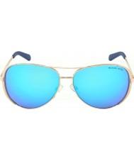Michael Kors Mk5004 59 chelsea oro rosa 100325 blu occhiali a specchio