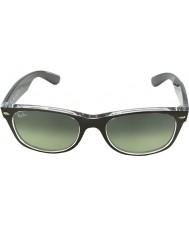 RayBan Rb2132-52 nuova canna di fucile Wayfarer spazzolato su trasparenti 6143-71 occhiali da sole