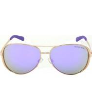Michael Kors Mk5004 59 chelsea in oro rosa 10034v occhiali da sole a specchio viola