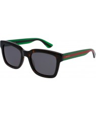 Gucci Mens gg0001s avana occhiali da sole verdi