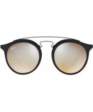 RayBan Rb4256 49 Gatsby nero opaco 6253b8 occhiali da sole a specchio grigio